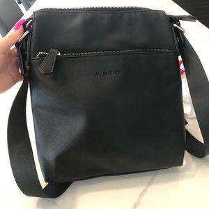 Valentino black messenger bag